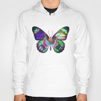 lsd Hoodies featuring LSD butterfly by Pink Eyed Paranoia