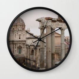 Eternal City Roma Panorama Wall Clock