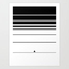 B // W Stripes Art Print