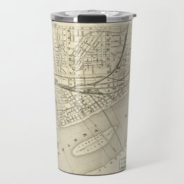 Map of Harrisburg, Pennsylvania (1884) Travel Mug