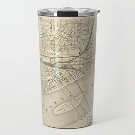 Map of Harrisburg, Pennsylvania (1884) Travel Mug