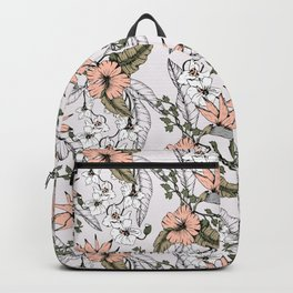 Tropical pattern pastel Backpack