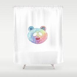 Rainbow bear head Shower Curtain