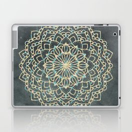Sea Shimmer Mandala - Gold + Turquoise Laptop & iPad Skin