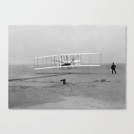Wright Brothers First Flight Canvas Print