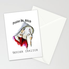 Gender Traitor / Praise Be, Bitch - 3 Stationery Cards