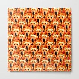 Cool Dog Art Doggie Golden Retriever Abstract Metal Print