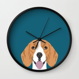 Lenon - Beagle gifts for pet owners and dog person with a beagle Wall Clock