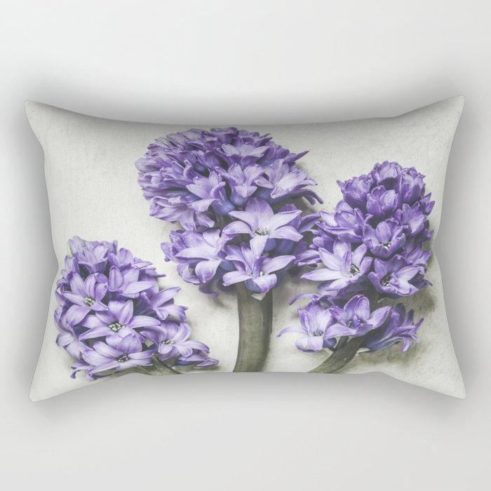 Three Lilac Hyacinth Rectangular Pillow