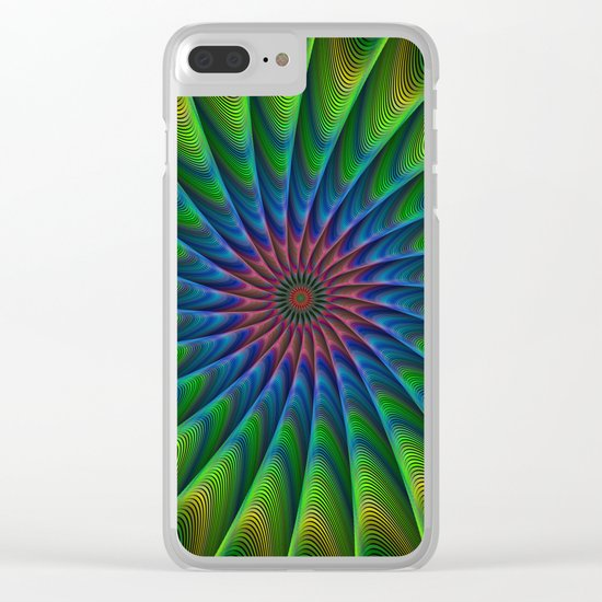 Fractal Clear iPhone Case