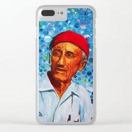 Jacques Cousteau Clear iPhone Case
