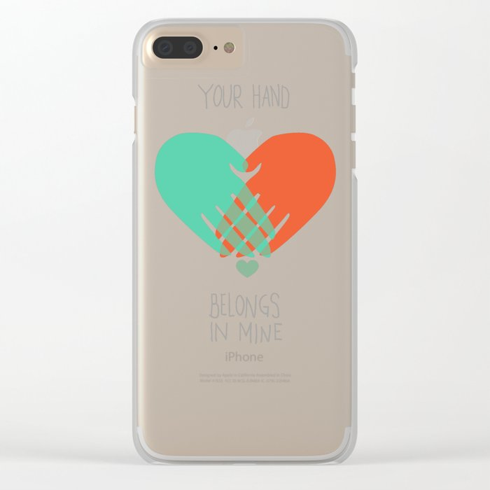 I wanna hold your hand Clear iPhone Case