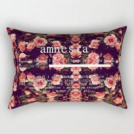 Amnesia Lyrics Rectangular Pillow