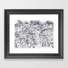 Where's Waldo? Framed Art Print