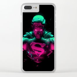 Man Of Steel 4 Clear iPhone Case