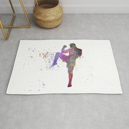 Taewondo-karate-muay thai-wrestling in watercolor 05 Rug