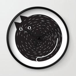 Circle Cat Wall Clock