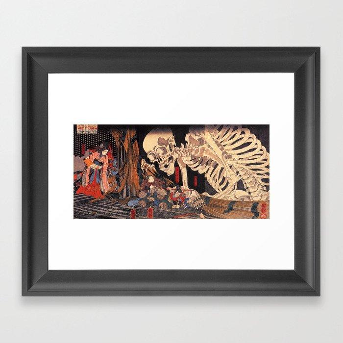 Takiyasha the Witch and the Skeleton Spectre, by Utagawa Kuniyoshi Gerahmter Kunstdruck
