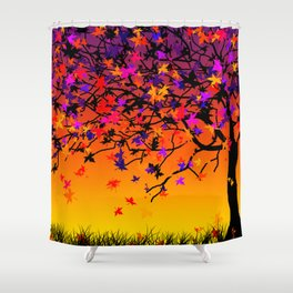 The Scent Of Halloween Autumn Tree Shower Curtain