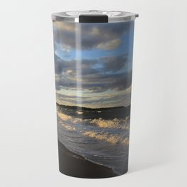 Evening Seascape Waves Travel Mug