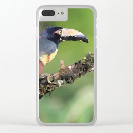 Toucan sitting on branch Costa Rica Clear iPhone Case