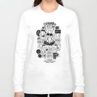 doom Long Sleeve T-shirts featuring Liquid Doom by Allan Ohr