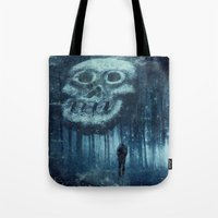 depression Tote Bags featuring depression by Dirk Wuestenhagen Imagery