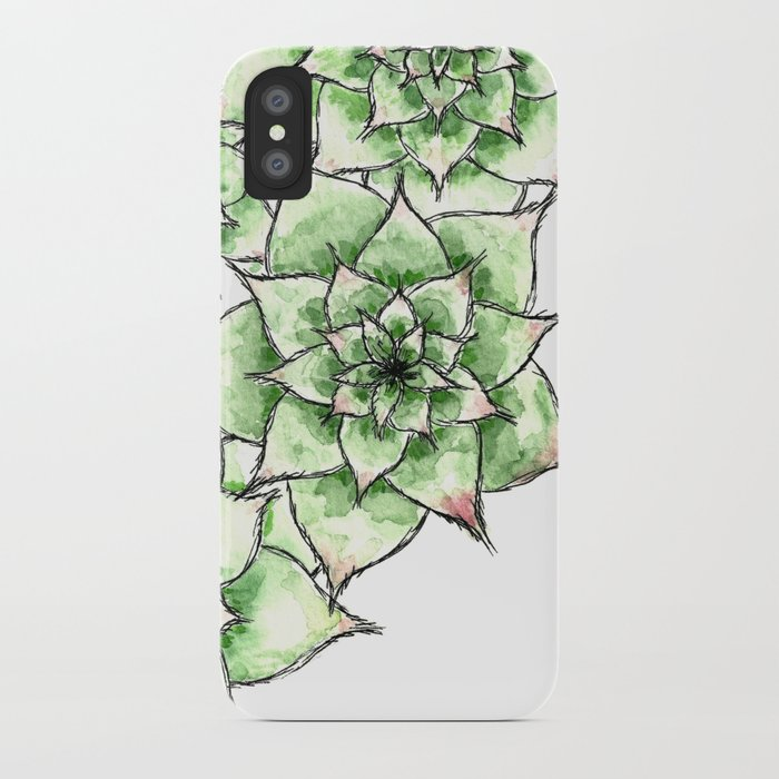 Hens and Chicks iPhone Case