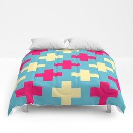 Pink Crosses Comforters