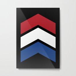 Chevron Netherlands Flag Colos Metal Print
