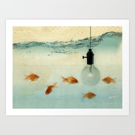 Fishing for ideas Art Print