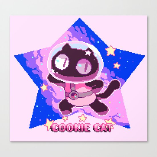 COOKIE CAT Canvas Print