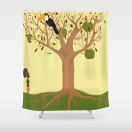 Juliette and apple tree Shower Curtain
