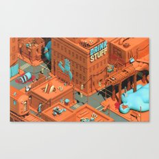 Murdertown - Soda Row Canvas Print