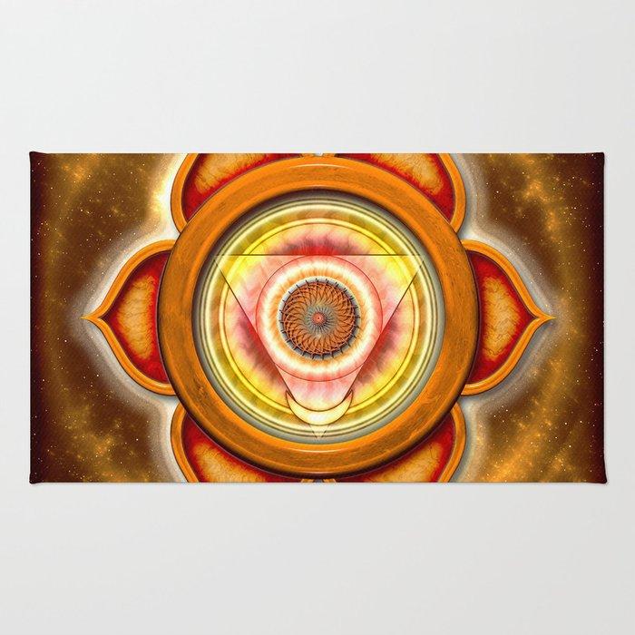 """Svadhisthana Chakra - Sacral Chakra - Series """"Open Chakra"""" Rug"""