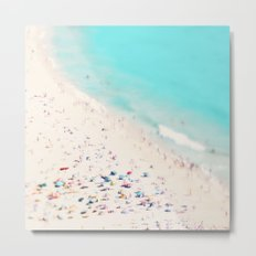 beach love III square Metal Print