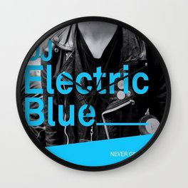 DJ Electric Blue / Pray for Taiwan Wall Clock