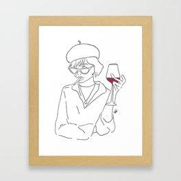 french girl Framed Art Print