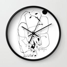 Purification of the Soul - b&w Wall Clock