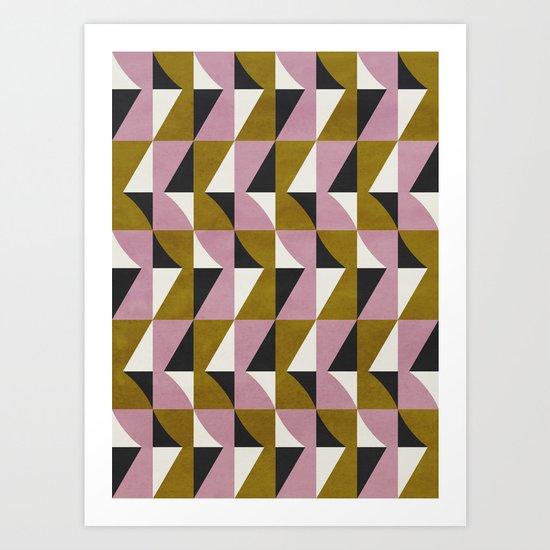 colour + pattern 10 Art Print