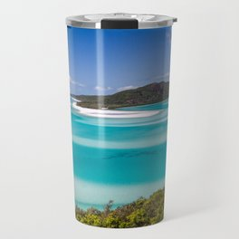 Blue Paradise Whitehaven Beach the Whitsunday Islands Travel Mug