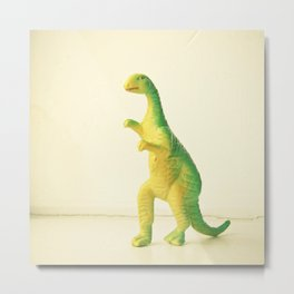 Dinosaur Attack Metal Print