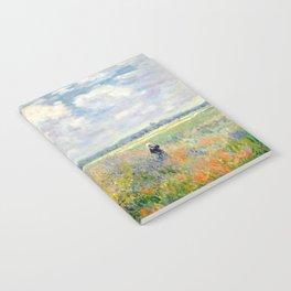 Poppy Fields near Argenteuil by Claude Monet Notebook