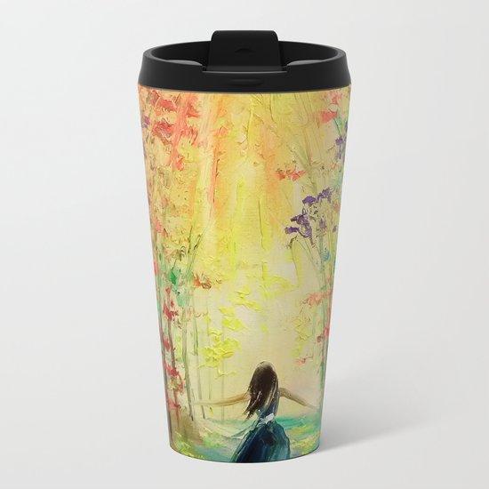 towards the sun Metal Travel Mug