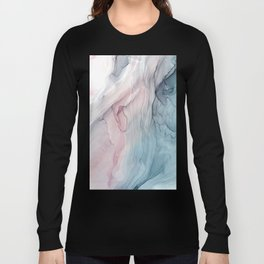 Calming Pastel Flow- Blush, grey and blue Long Sleeve T-shirt
