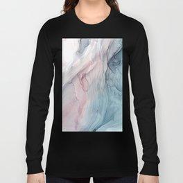 Calming Pastel Flow- Blush, grey and blue Long Sleeve T-shirt