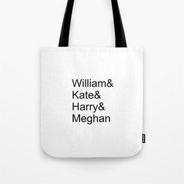 William & Kate & Harry & Meghan Tote Bag