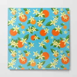 Orange Blossom Daydreams Metal Print