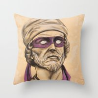 tmnt Throw Pillows featuring Donnie TMNT by Rachel M. Loose