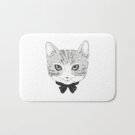 Cool Cat & Bow Bath Mat